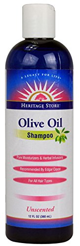 Heritage Products, Olive Oil Shampoo Unscented, Unscented 12