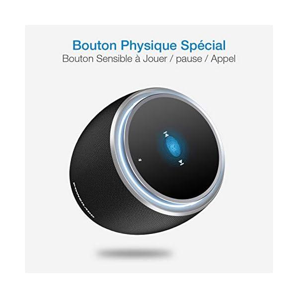 POWERADD Enceinte Bluetooth Portable, 36W Basse Performant avec 4 Pilotes Intégrés, 4000mAh Grande Capacité, Volume Rotatif, Musique de 12H pour Intérieur/Extérieur 4