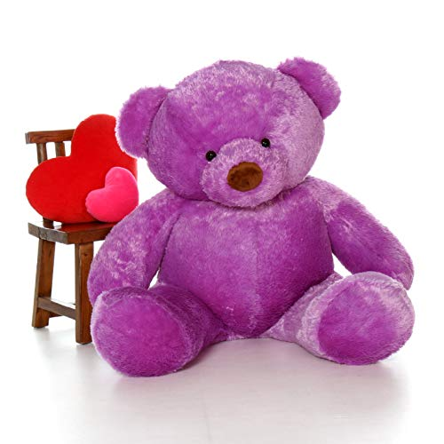 Giant Teddy Original Bear Brand - Biggest Selection of Life Size Stuffed Teddy Bears (Lavender Purple, 5 Foot)