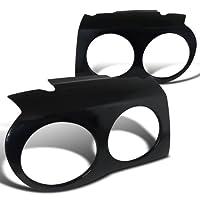 Spec-D Tuning EB-300C05 Chrysler 300C Black Abs Plastic Headlight Eyelids Cover Glossy