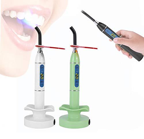 BONEW USA Dental Wireless Cordless LED Cure Light Lamp Tool White/Green