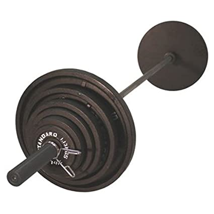 c358e7a8862 Amazon.com   USA Sports Olympic Black Weight Set Black Bar - 300 Pounds    Sports   Outdoors