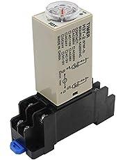 heschen temporizador retraso relé H3Y-2220VAC 0–30minutos 250VAC 5A Terminal de 8pines DPDT con dyf0835mm riel DIN Socket Base