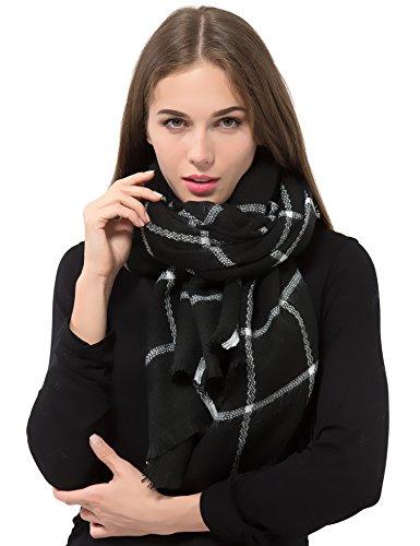 Women Plaid Blanket Scarf Warm Winter Tartan Wrap Shawl Gorgeous, Stylish