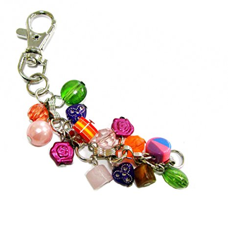 e Keychain with Various Shapes Colorful Beaded Dangles, Mixed ()