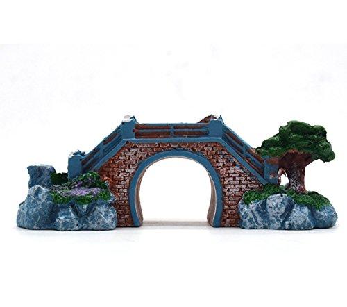 Saim Aquarium Resin Chinese Arch Bridge Decoration Fish Tank Landscape Ornament