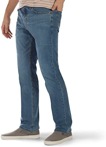 LEE Men's Premium Flex Denim Classic Fit, Rascal, 33W x 29L