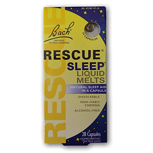 Rescue Night Spray - Bach Rescue Sleep Liquid Melts, Dissolvable Capsules 28 ea ( Pack of 3 )