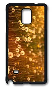 MOKSHOP Adorable dandelions field Hard Case Protective Shell Cell Phone Cover For Samsung Galaxy Note 4 - PCB
