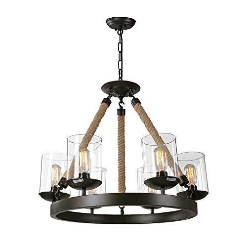 LNC Vintage Chandelier Lighting 6-Light Chandeliers Rustic Pendant Lighting
