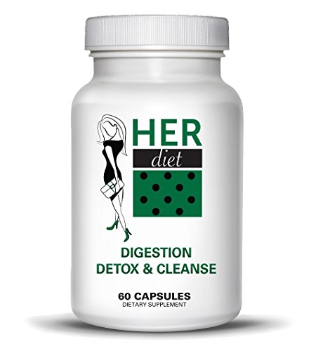 HERdiet Digestion Detox and Cleanse for Women Extra Strength Supplement for Bloating Relief Weight Loss Detoxification of Colon and Toxins ()