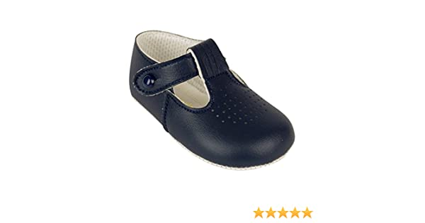 Amazon.com: BabyPrem Baby Shoes Boys Clothes T Bar Soft Soled Button Blue Navy 0-18 Months: Shoes