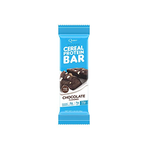 Quest Nutrition Beyond Cereal Protein Bar, Chocolate, 12g Protein, 2g Net Carbs, 110 Cals, Low Carb, Gluten Free, Soy Free, 1.34oz Bar, 15 - Sugar Carb No Low