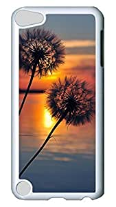 Brian114 Case, iPod Touch 5 Case, iPod Touch 5th Case Cover, Beautiful Dandelion Retro Protective Hard PC Back Case for iPod Touch 5 ( white )