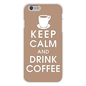 Apple iphone 4 4s Custom Case White Plastic Snap On - Keep Calm and Drink Coffee