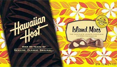 Hawaiian Host Island Macs Tiare Milk Chocolate Covered Macadamia Nuts 5 oz Boxes (1 Box)