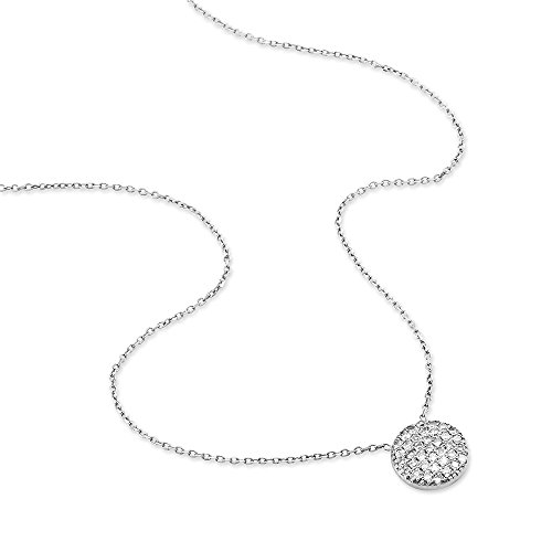 HISTOIRE D'OR - Collier Elvira Or Blanc et Diamant - Femme - Or blanc 375/1000