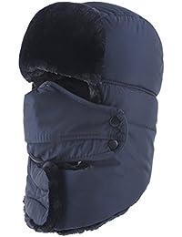 Winter Hat Windproof Mask Ushanka Trapper Hats For Men and Women
