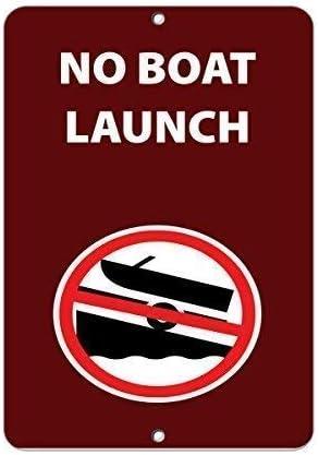 Lotusworld - Señal de Advertencia con Texto en inglés No Boat ...