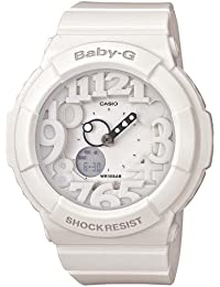 BABY-G 3D Dial, Analog white multi color backlight BGA131-7B