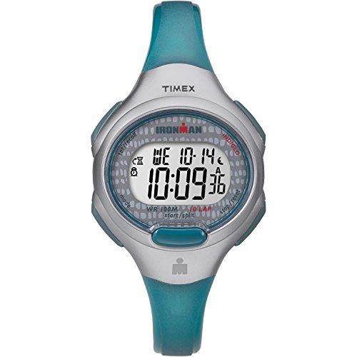 Timex+Women%27s+TW5M10100+Ironman+Essential+10+Blue%2FGray+Resin+Strap+Watch