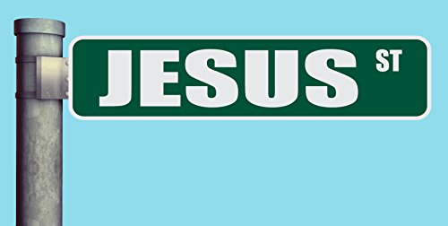 JESUS ST STREET SIGN HEAVY DUTY ALUMINUM ROAD SIGN 17