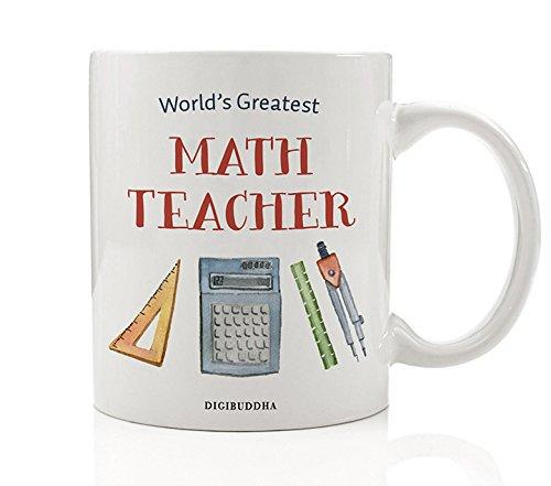 Amazon.com: Math Teacher Gifts, World\'s Greatest Math Teacher Coffee ...