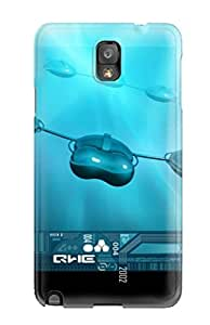 HDYtzye24146ZrXRW Case Cover, Fashionable Galaxy Note 3 Case - Rotate Me Blue Black Capsules