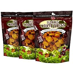 J & Ds Croutons Bacon 4.5 OZ (Pack of 12)