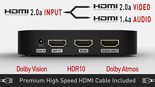 Egreat H10   4K HDR HDMI 2.0a Audio Video Splitter with Dolby Vision and Atmos Support   Audio Extractor