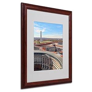Washington DC by Gregory O'Hanlon Matted Framed Art, 16 by 20-Inch, Wood Frame