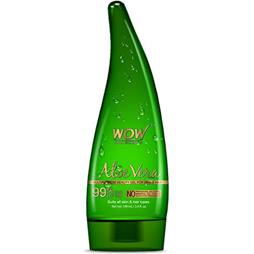 WOW 99% Aloe Vera Gel - Ultimate for Skin and Hair - No Parabens Sili