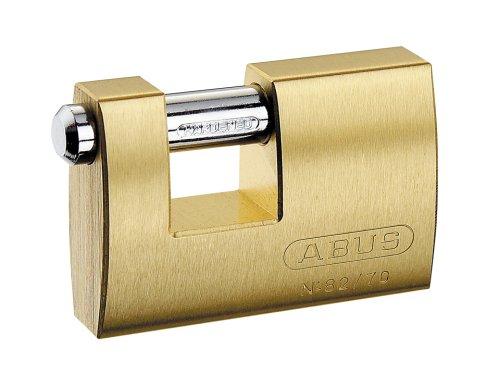 Abus 82/70 70mm Monoblock Brass Shutter Padlock - Monoblock Padlock Shutter