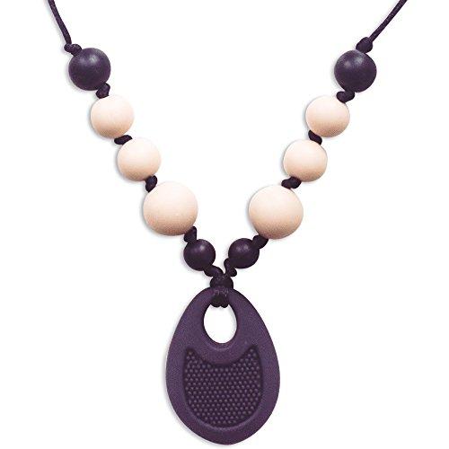 Nuby UK Teething Pendant Necklace Black Soft Silicone Surface for Teething 3m+