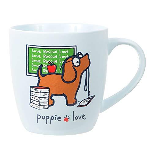 Pavilion Gift Company 24506 Bone China 17 Oz Mug - Puppie Love Teacher Dog, ()