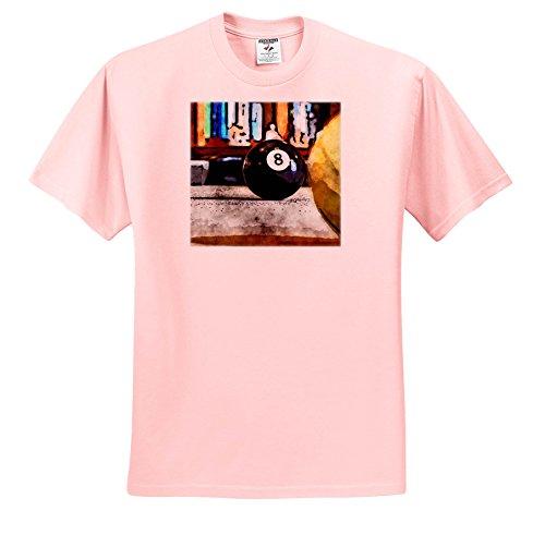 3dRose Phil Perkins - Graphic Design - Eight Ball Corner Pocket Pool - T-Shirts - Light Pink Infant Lap-Shoulder Tee (6M) (TS_265153_70) -