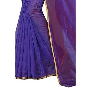 PERFECTBLUE Women's Raw Silk Saree With Blouse Piece