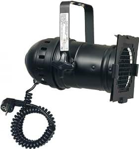 Showtec Par 46 - Foco (con casquillo E27 y cable rizado con enchufe)