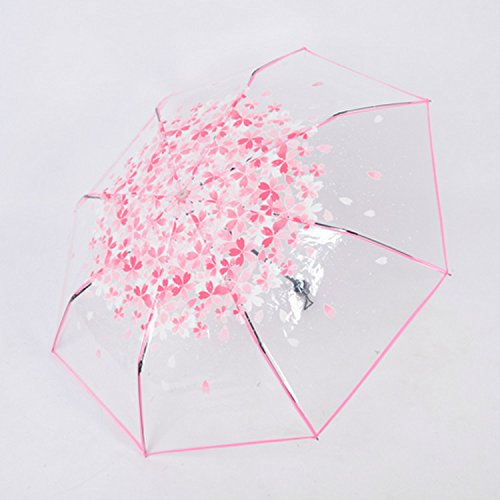 JULIE Wang de flores de cerezo transparente plegable ...