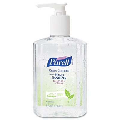 Purell Certified Instant Hand Sanitizer - 8 OZ [Set of 2] (Antibacterial Hand Gel Moisturizing)
