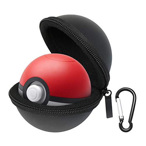 Carrying Case Compatible with New 2018 Pokemon Poke Ball Puls Controller, Protective Hard Portable Travel Pokeball Case Bag for Nitendo Switch Accessories Pokeball(Black)
