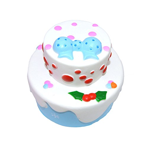Squishy Super Slow Rising Soft Scented Kawaii Double Layer Rosette Birthday Cake Decompression Toy