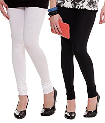 Lux lyra Women's Cotton Leggings (W~10/b~11, Black/White, Free Size) -...