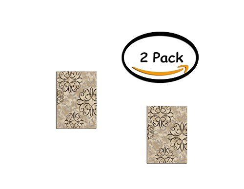 "PACK OF 2 - Better Homes and Gardens Iron Fleur Area Rug or Runner, Size:2'6""x3'8"", Actual Color: Beige from Better Homes and Gardens"