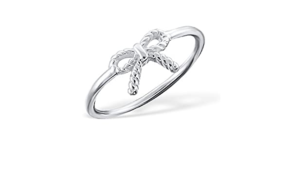 Caratera Girls Twisted Plain Rings 925 Sterling Silver