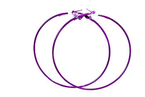 Purple Hoop Earrings Thin Hoop Earrings Purple Hoops 3 Inch
