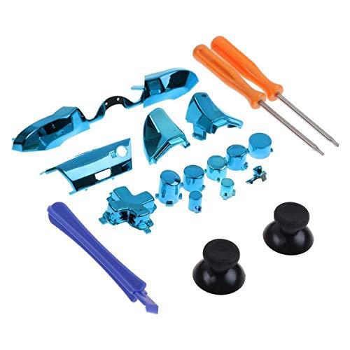 Bumper Full Buttons Repair Kits, Replacement Parts, T8 Screwdriver T6 Screwdriver Repair Tool Xbox One Elite Controller Bumpers Repair kit Xbox one Elite Controller Buttons Replacement(Blue)