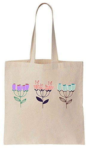 Three Bunches Of Beautiful Blooming Flowers Cotton Canvas Tote Bag