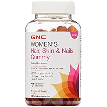 GNC Womens Hair Skin Nails Gummy - Tropical Fruit