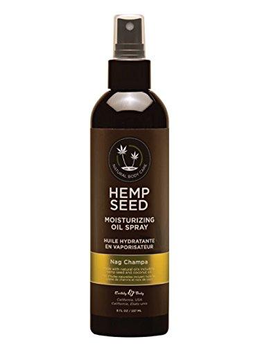 Earthly Body Hemp Seed Moisturizing Oil Spray  8 Fl  Oz     Nag Champa